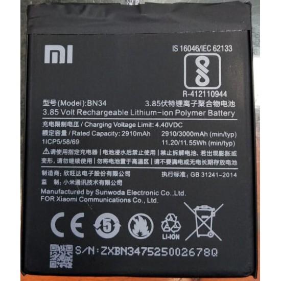 MI Xiaomi BN34 for Xiaomi Mi Redmi Note 4 New Mobile Original Battery