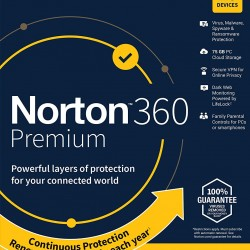 Norton 360 Premium for 10 PC, Mac®, smartphone or tablet Security Software