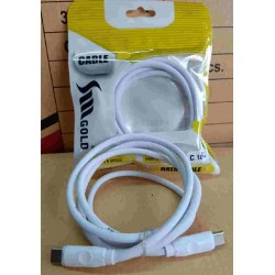 SM Gold Typce C USB High Speed Mobile Data Charging Cable