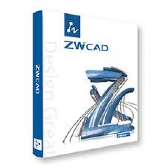 ZWCAD 2021 2D Standard Lic ESD (Includes 1 year email/tel support) ESD License Software