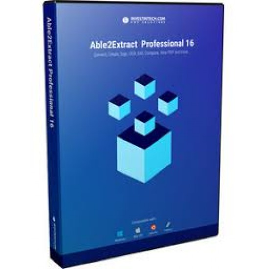 Able2Extract Pro PDF Converter Professional 16 (PDF TO WORD/EXCEL/PPT/.DXF/PUB) ESD Software
