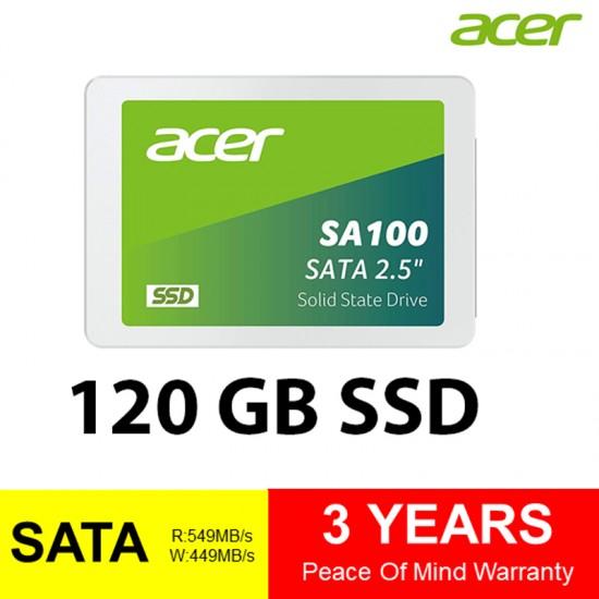 Acer SA100 120GB 3D NAND SATA 2.5 inch Internal Drive SSD