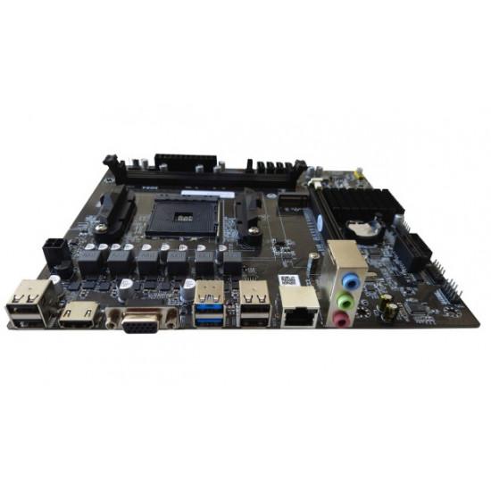 AMD A320 AM4 Socket  DDR4 | USB 3 mATX Motherboard (Supports 1st, 2nd, 3rd Gen Ryzen) AM4 Motherbaord