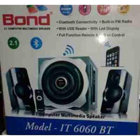 Bond IT6060BT 2.1 Multimedia with FM, USB & PROMAX Remote Control Woofer Speaker