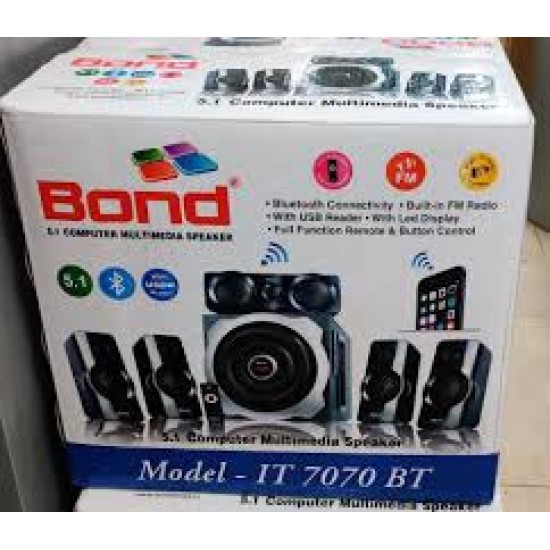 Bond IT7070BT 5.1 Multimedia with FM, USB & PROMAX Remote Control Woofer Speaker