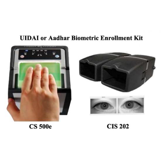 Aadhaar Kit Cogent Biometrics UID FingerPrint + Iris Scanner CSC Aadhar Enrollment UID Kit