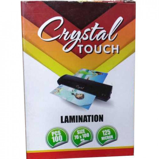 Crystal Touch 125 Micron PVC Film ID size (70mm * 100mm) 100 PCs Pack Lamination Pouch