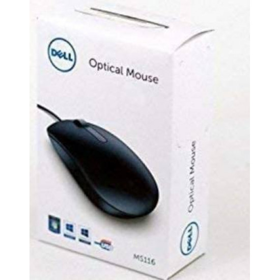 Dell MS116 USB Wire Black Optical Mouse