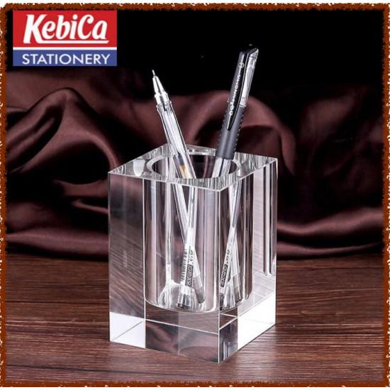 Kebica Crystal 350 Pen Stand Holder Transparent Glass Pen Tumbler