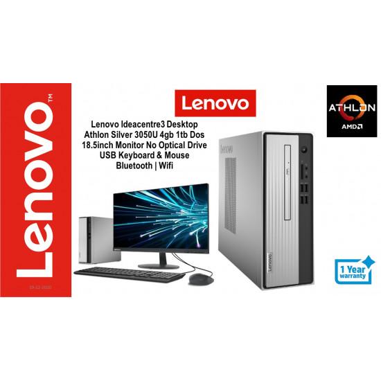 Lenovo IdeaCentre 3 3050U AMD Athlon Silver for Home Office Students Branded Desktop