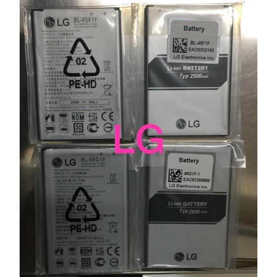 LG BL-45B1F BL-45F1F BL-46G1F BL-46G1F-1 BL-43E1F BL-45A1H BL-46B1F-1 BL-51YF-1 BL-53YH-5 BL-44E1F Genuine Most Common Mobile Battery