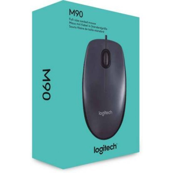 Logitech M90 USB Wired Black Optical Mouse