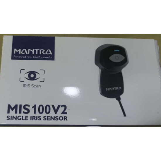 MANTRA MIS100V2 Single IRIS Sensor   Scanner USB AADHAR   AYUSHMAND Bharat Biometric Device