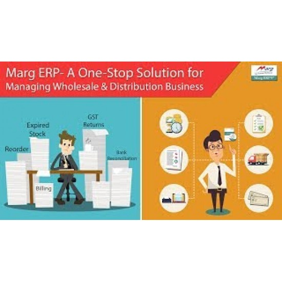 Marg Pharmacy, Chemist, Pharma, Medical Store GST for distribution and wholesale Billing Inventory Management Software