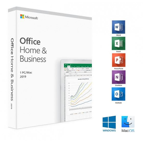 Microsoft Office 2019 Home and Business Ms Mini ESD Software