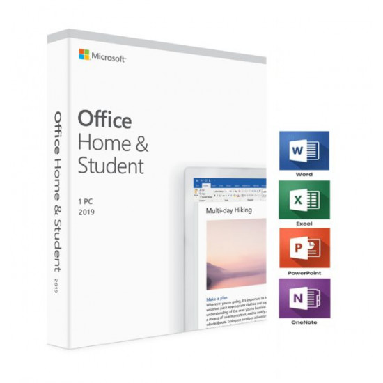 Microsoft Office 2019 Home and Student Ms POSA Card Software