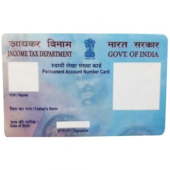 Pre Printed PAN Multi Color ID Card PAN 100 PCs Pack PVC Card