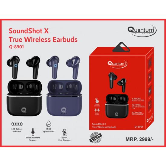 Quantum Q-8901 SoundShot X Type-C Fast Charging True Wireless Earbuds