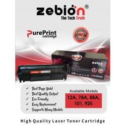 Zebion 12A Black Compatible Laser Printers Toner Cartridge
