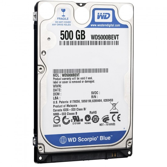 WD 500GB Western Digital Electronics Hard Drive for laptop HDD